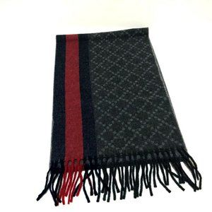 GUCCI Sherry line Scarf Gray